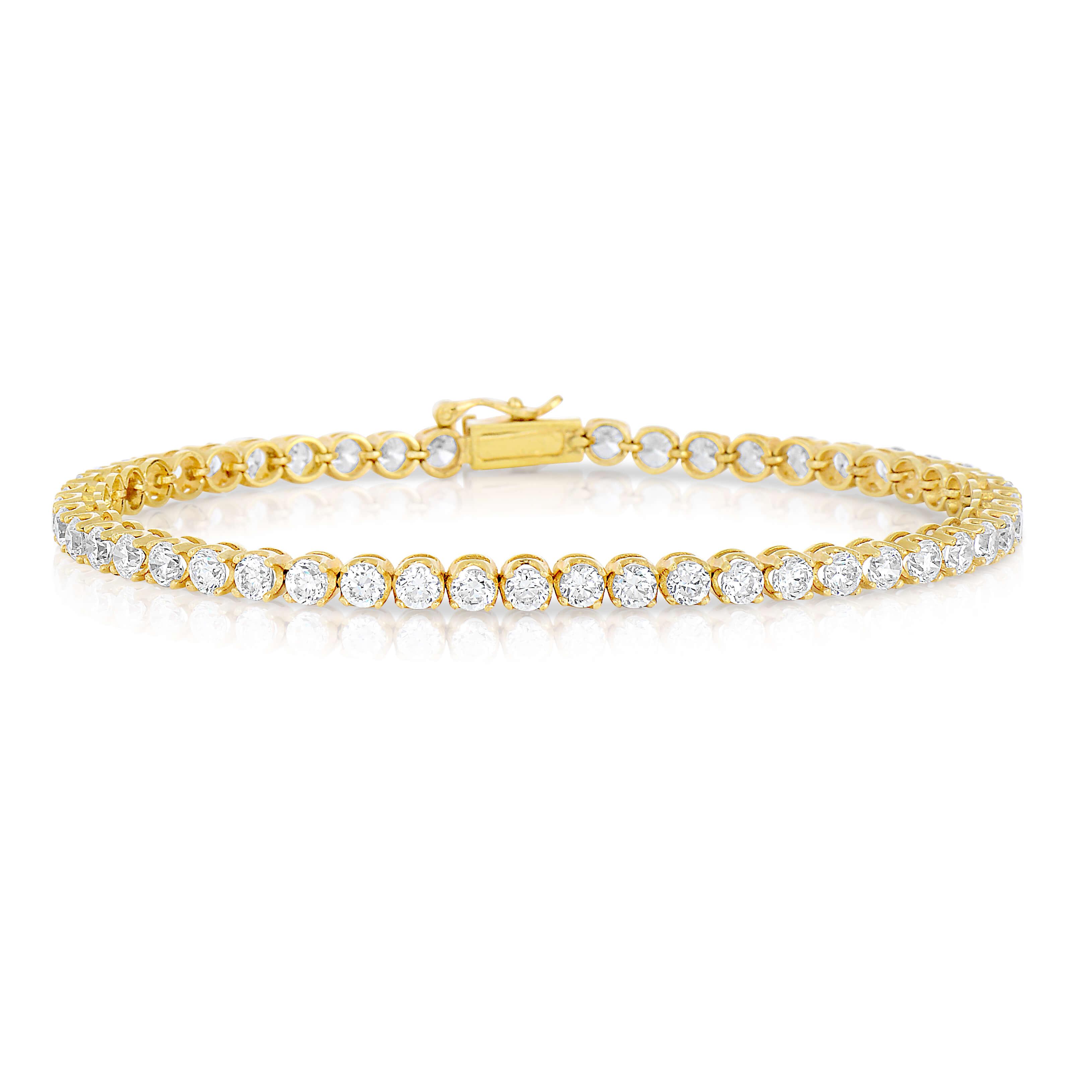 Yellow-gold-Tennis-bracelet-with-round-diamonds